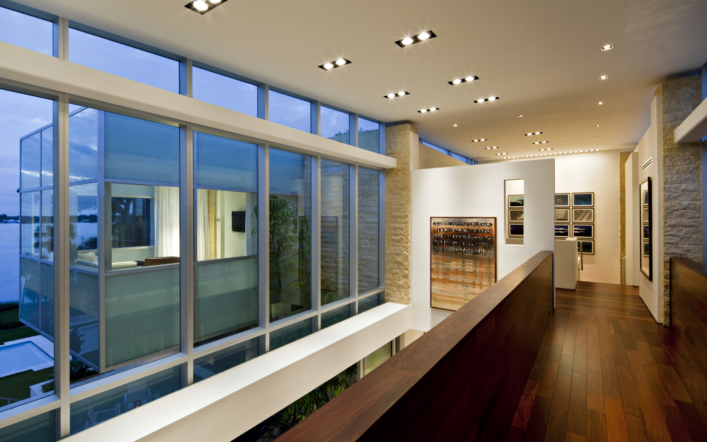 Glass wall offices